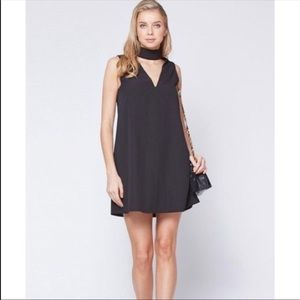 Yumi Kim Edie Chocker V-Neck Black Dress Small
